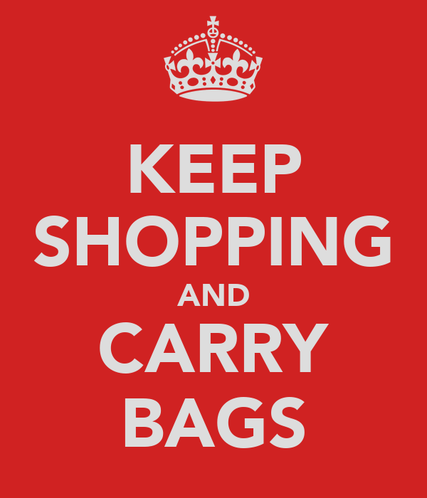 KEEP SHOPPING AND CARRY BAGS
