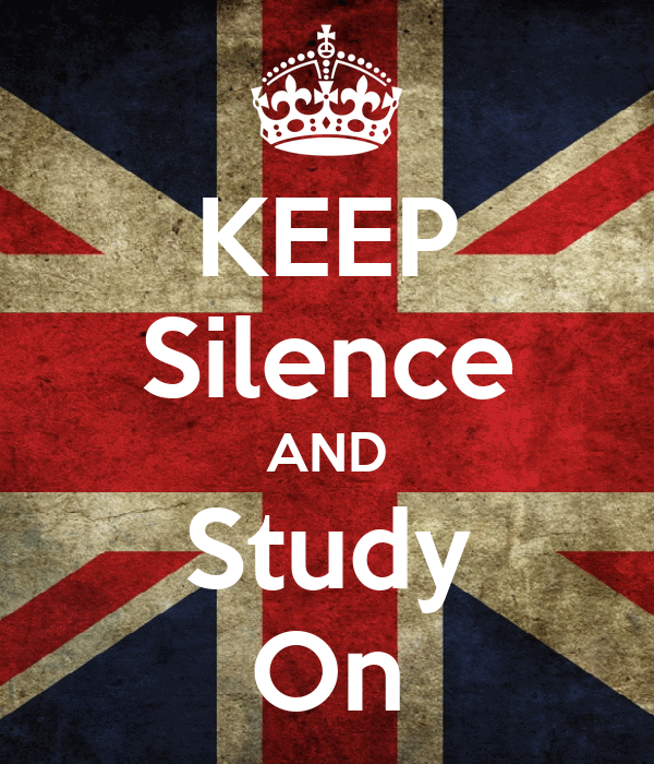 KEEP Silence AND Study On