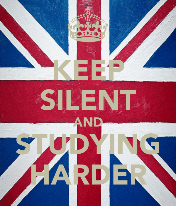 KEEP SILENT AND STUDYING HARDER