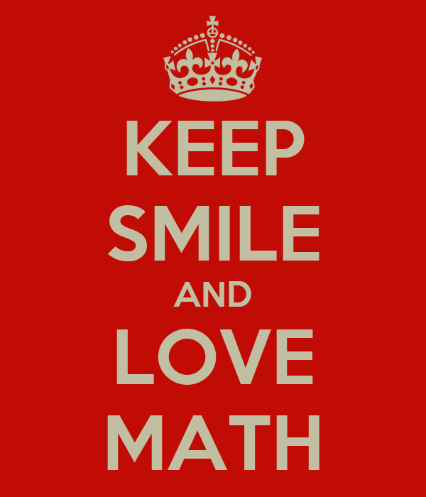 KEEP SMILE AND LOVE MATH
