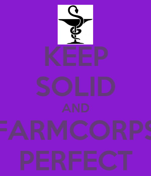 KEEP SOLID AND FARMCORPS PERFECT