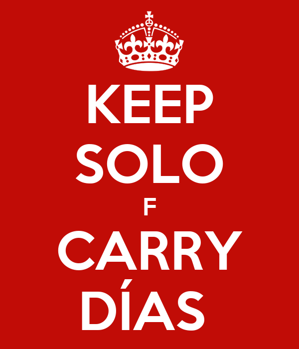 KEEP SOLO F CARRY DÍAS