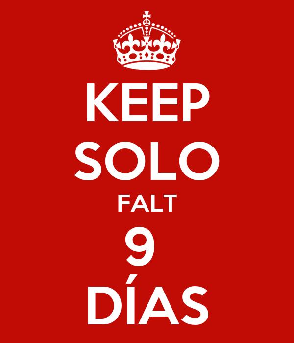 KEEP SOLO FALT 9  DÍAS