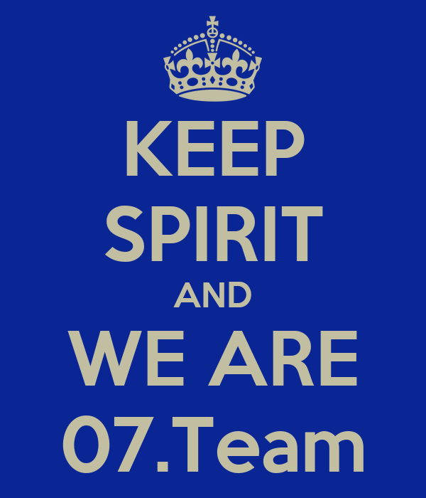 KEEP SPIRIT AND WE ARE 07.Team