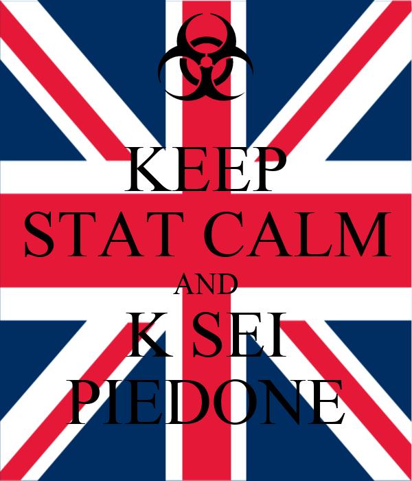 KEEP STAT CALM AND K SEI PIEDONE