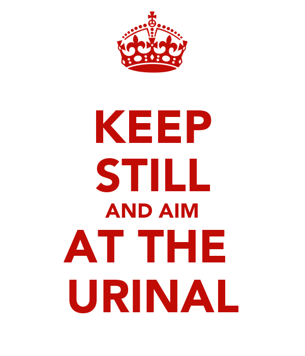 KEEP STILL AND AIM AT THE  URINAL