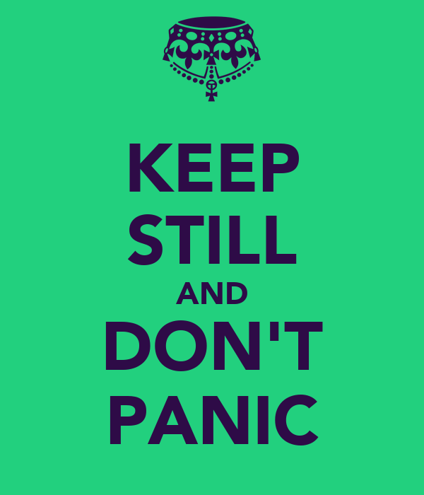 KEEP STILL AND DON'T PANIC