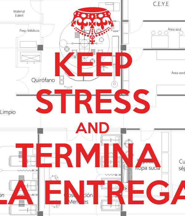 KEEP STRESS AND TERMINA  LA ENTREGA