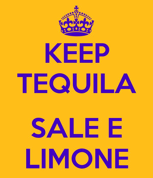 KEEP TEQUILA  SALE E LIMONE