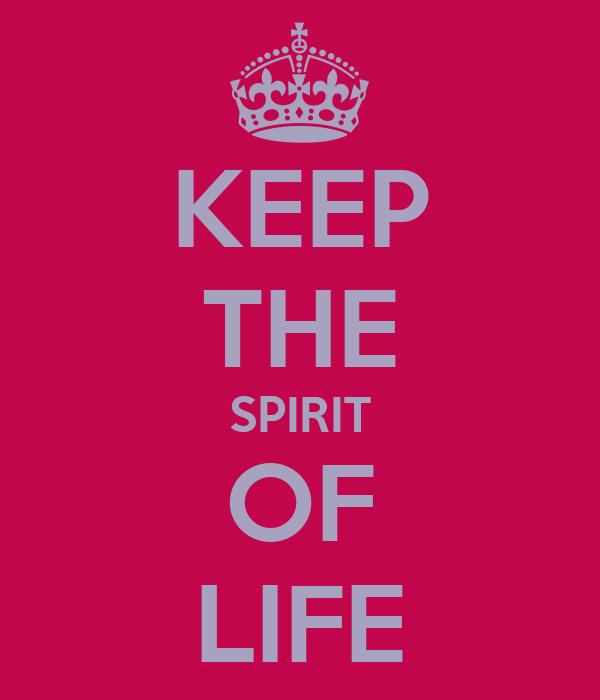 KEEP THE SPIRIT OF LIFE