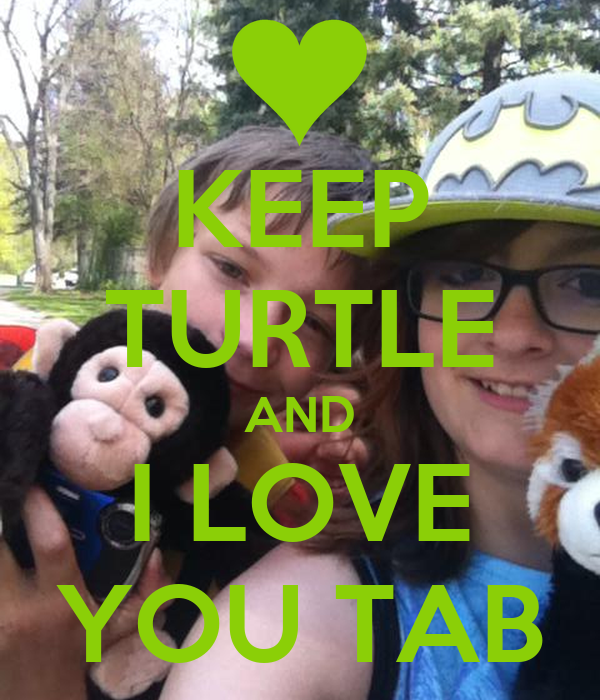 KEEP TURTLE AND I LOVE YOU TAB