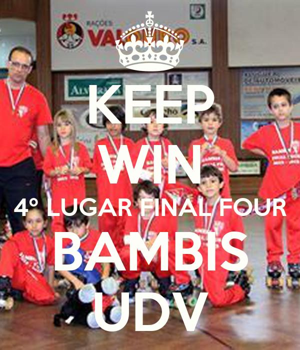 KEEP WIN 4º LUGAR FINAL FOUR BAMBIS UDV