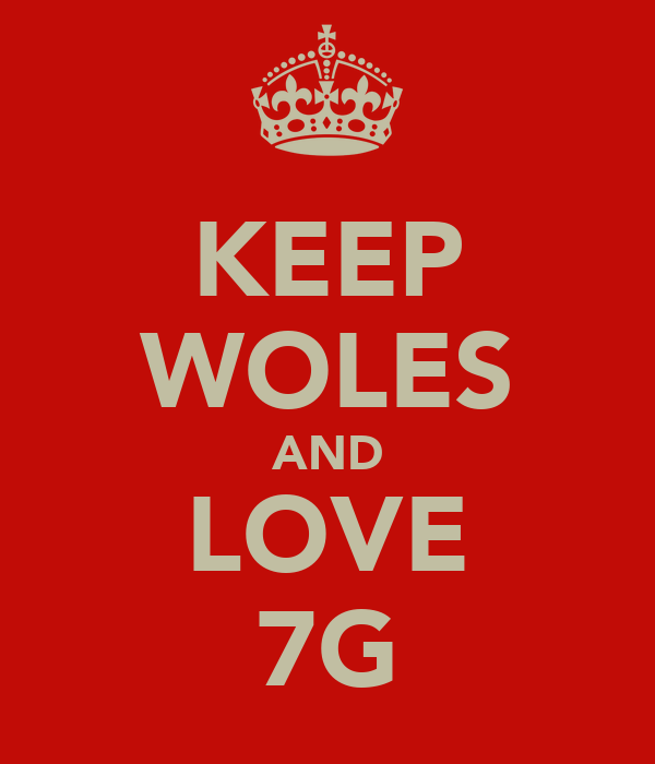KEEP WOLES AND LOVE 7G