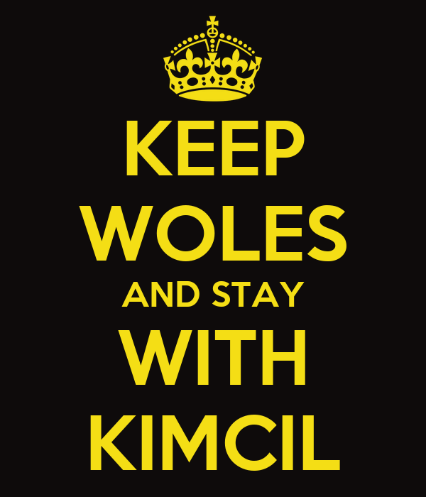 KEEP WOLES AND STAY WITH KIMCIL Poster  krisna  Keep CalmoMatic