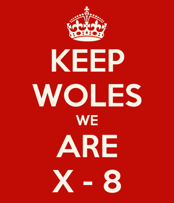 KEEP WOLES WE ARE X - 8