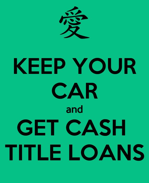 Car Title Cash Loans