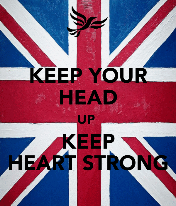KEEP YOUR HEAD UP  KEEP HEART STRONG