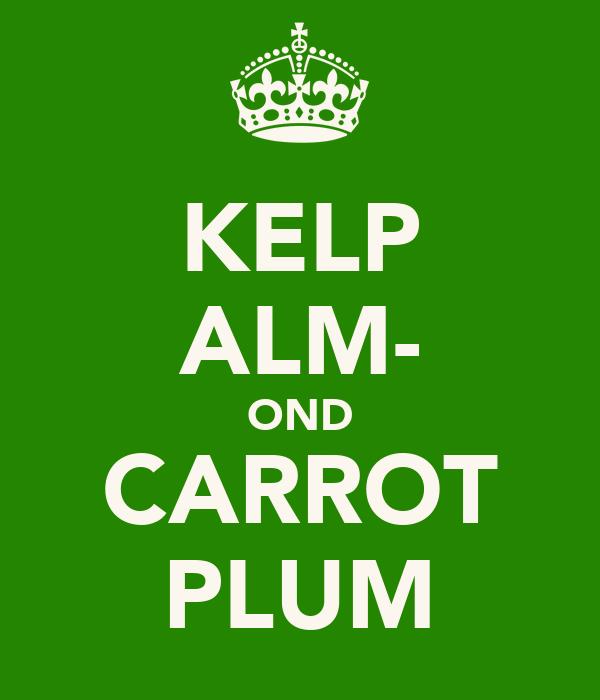 KELP ALM- OND CARROT PLUM