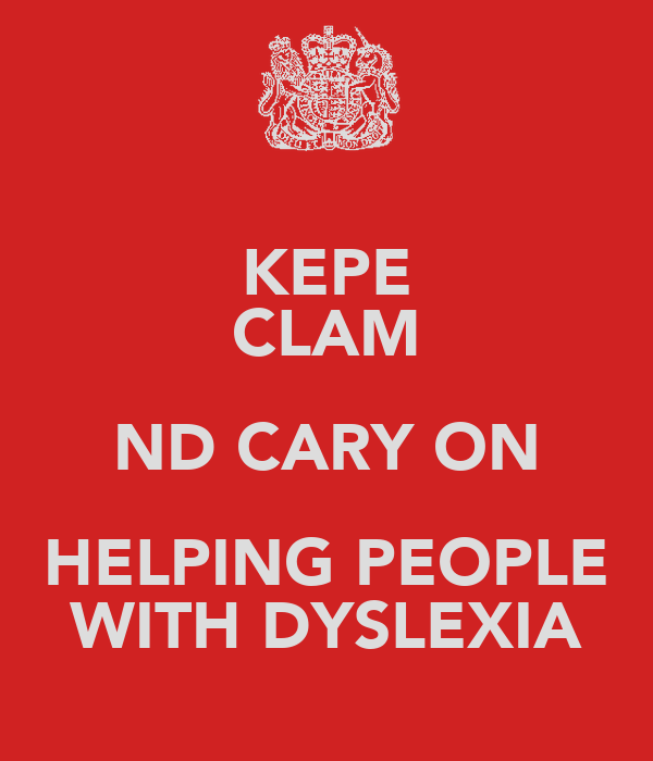 KEPE CLAM ND CARY ON HELPING PEOPLE WITH DYSLEXIA