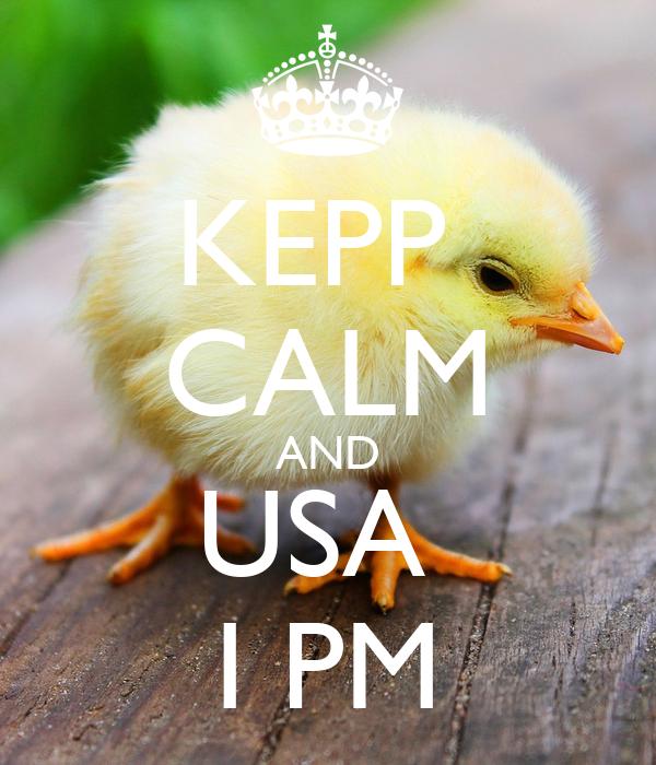 KEPP  CALM AND USA  I PM