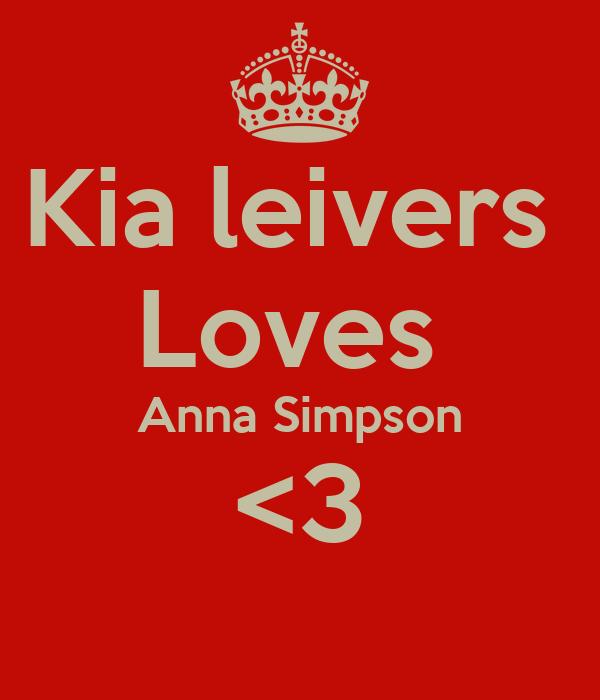 Kia leivers  Loves  Anna Simpson <3