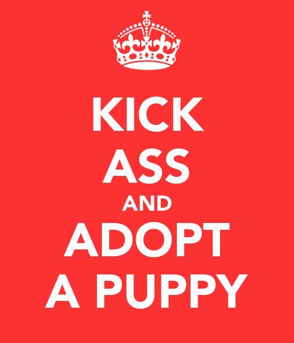 KICK ASS AND ADOPT A PUPPY