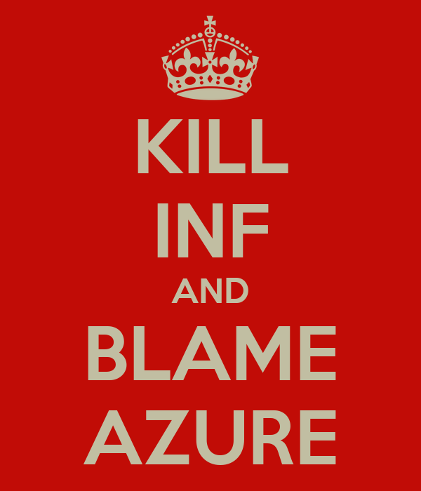 KILL INF AND BLAME AZURE