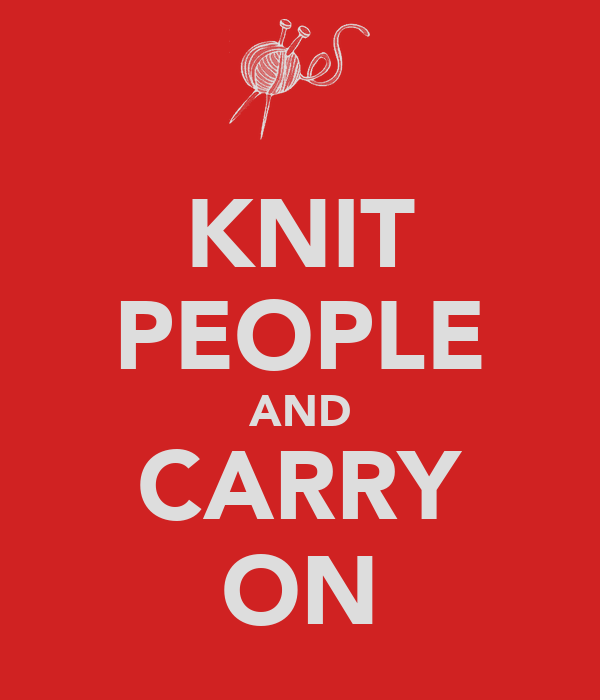 KNIT PEOPLE AND CARRY ON