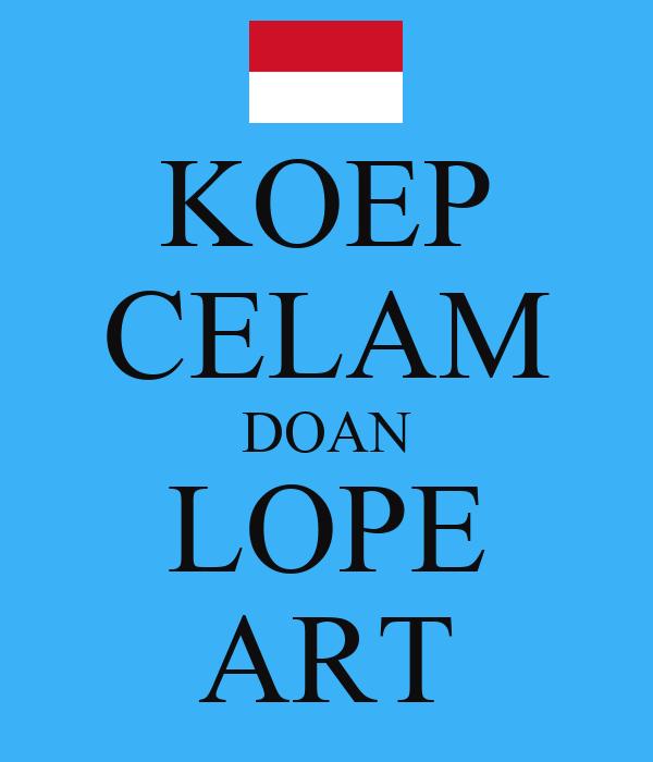 KOEP CELAM DOAN LOPE ART