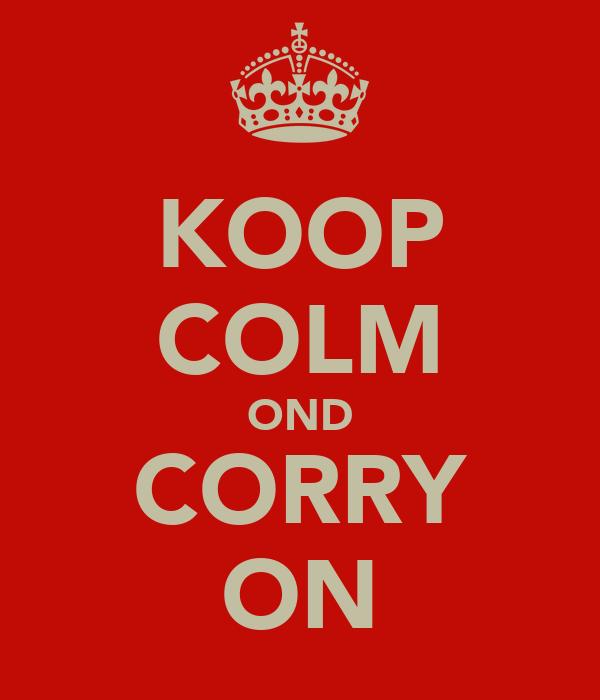 KOOP COLM OND CORRY ON