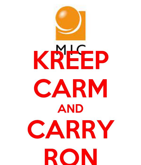 KREEP CARM AND CARRY RON
