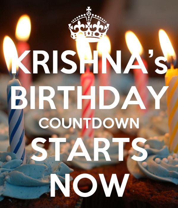 KRISHNA's BIRTHDAY COUNTDOWN STARTS NOW