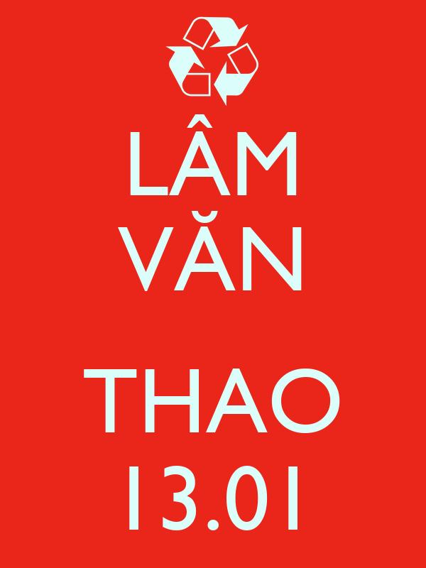 LÂM VĂN  THAO 13.01