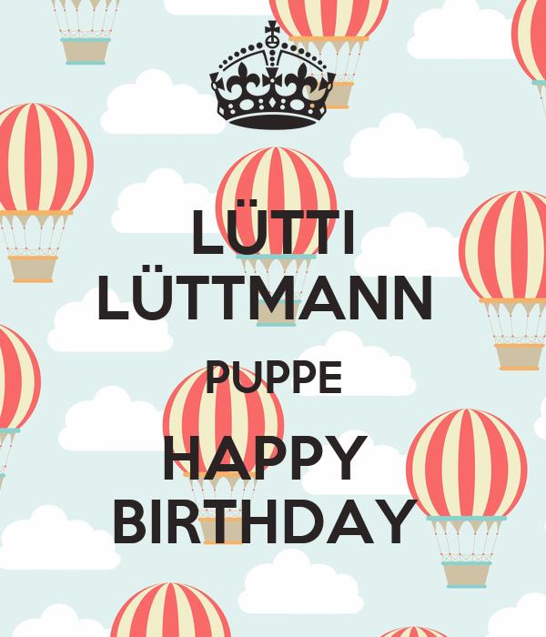 LÜTTI LÜTTMANN  PUPPE HAPPY  BIRTHDAY