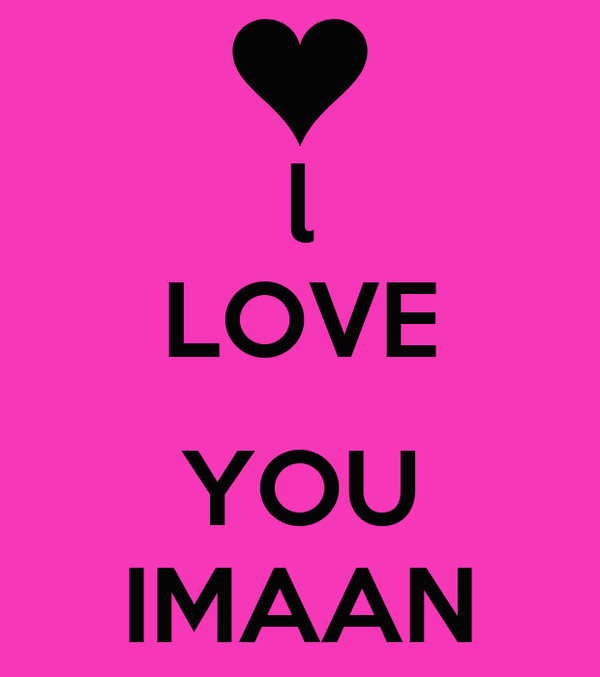 l love you imaan poster keep calm o matic