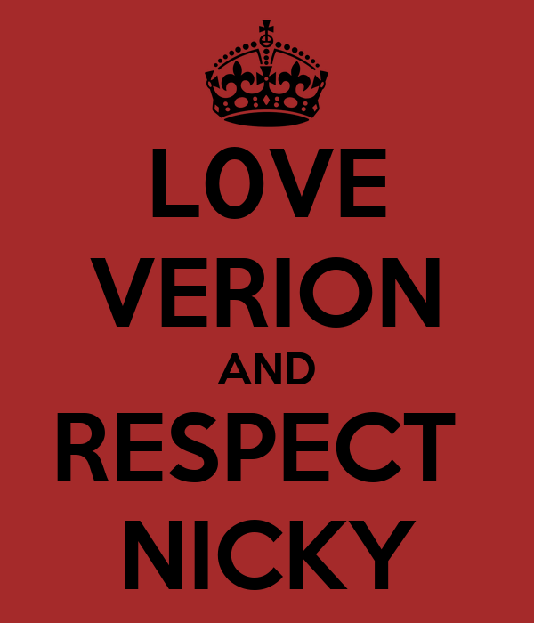 L0VE VERION AND RESPECT  NICKY