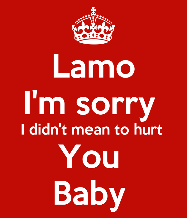 Lamo Im Sorry I Didnt Mean To Hurt You Baby Poster Fahad Keep