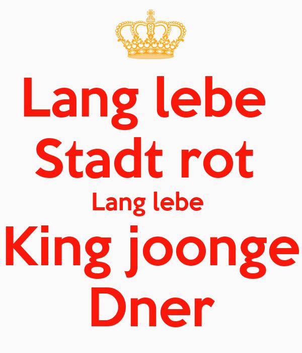 Dner joonge  Lang lebe Stadt rot Lang lebe King joonge Dner Poster | David ...