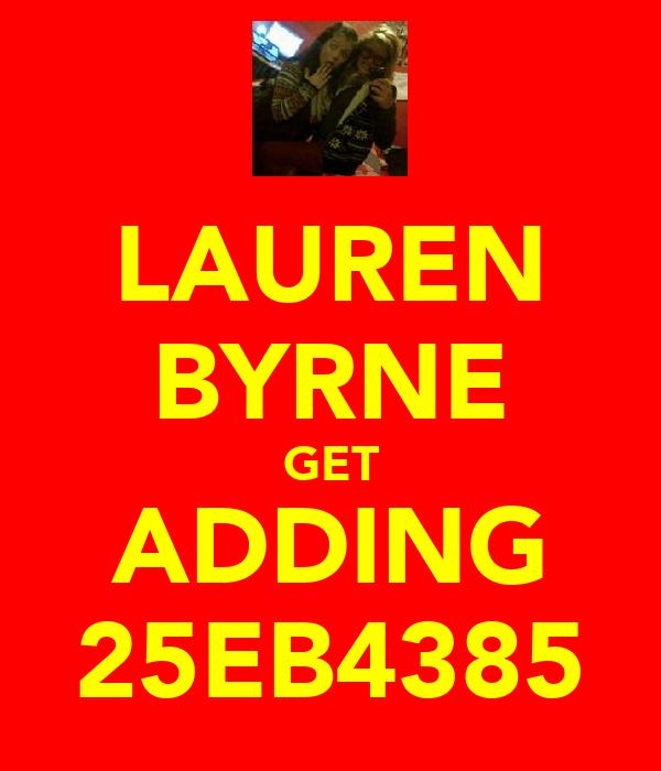 LAUREN BYRNE GET ADDING 25EB4385