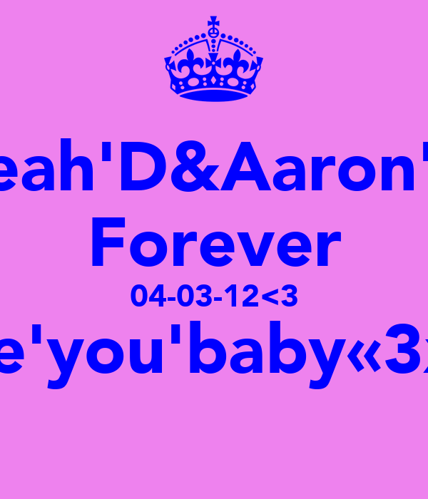 Leah'D&Aaron'C Forever 04-03-12<3 love'you'baby«3xxx