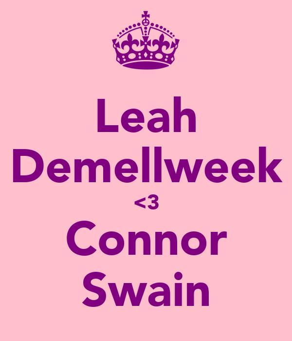 Leah Demellweek <3 Connor Swain