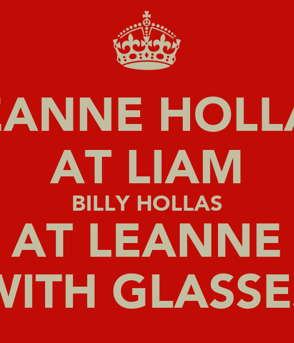 LEANNE HOLLAS AT LIAM BILLY HOLLAS AT LEANNE WITH GLASSES