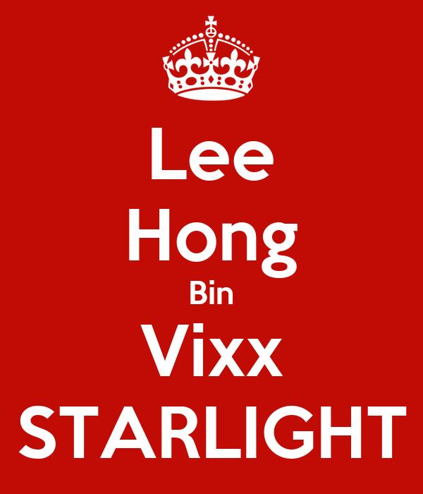 Lee Hong Bin Vixx STARLIGHT
