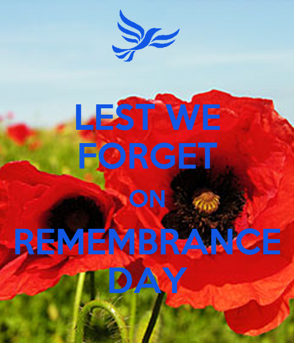 LEST WE FORGET ON REMEMBRANCE DAY