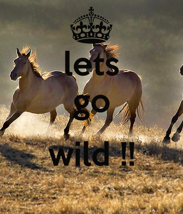 lets go  wild !!