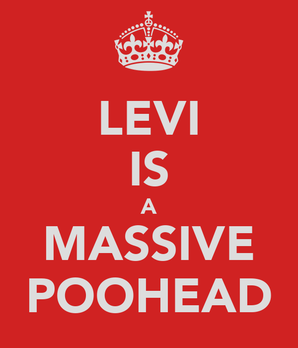 LEVI IS A MASSIVE POOHEAD
