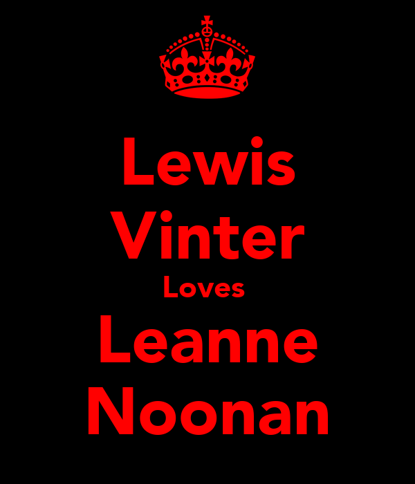 Lewis Vinter Loves  Leanne Noonan