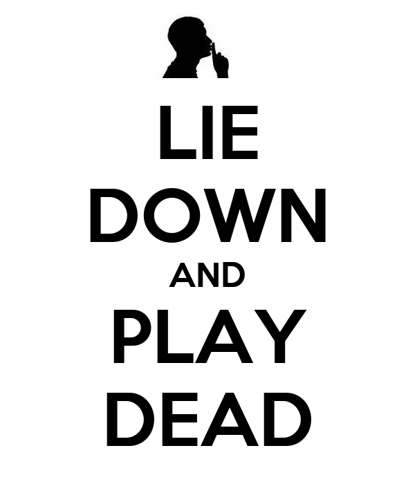 LIE DOWN AND PLAY DEAD