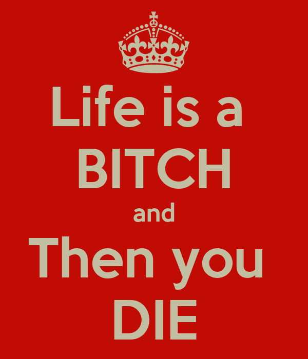 Life is a  BITCH and Then you  DIE
