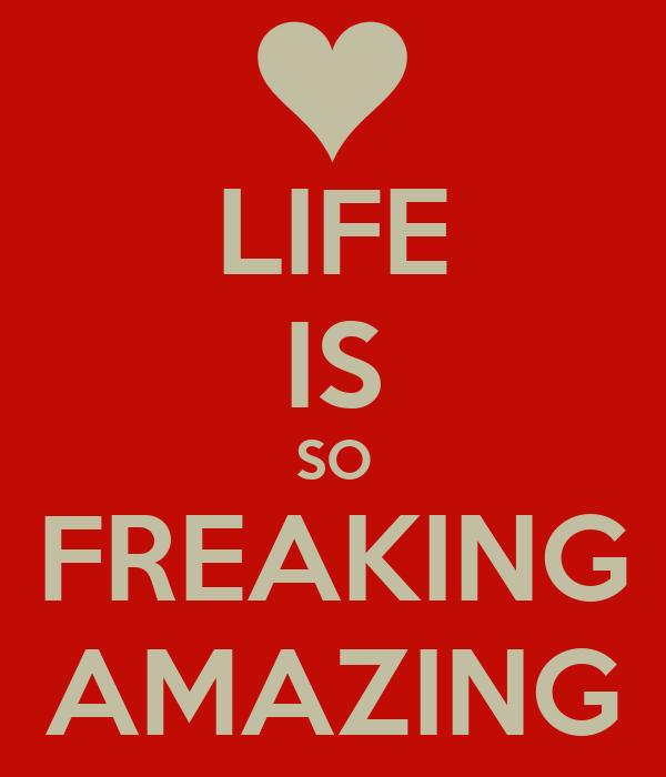 LIFE IS SO FREAKING AMAZING